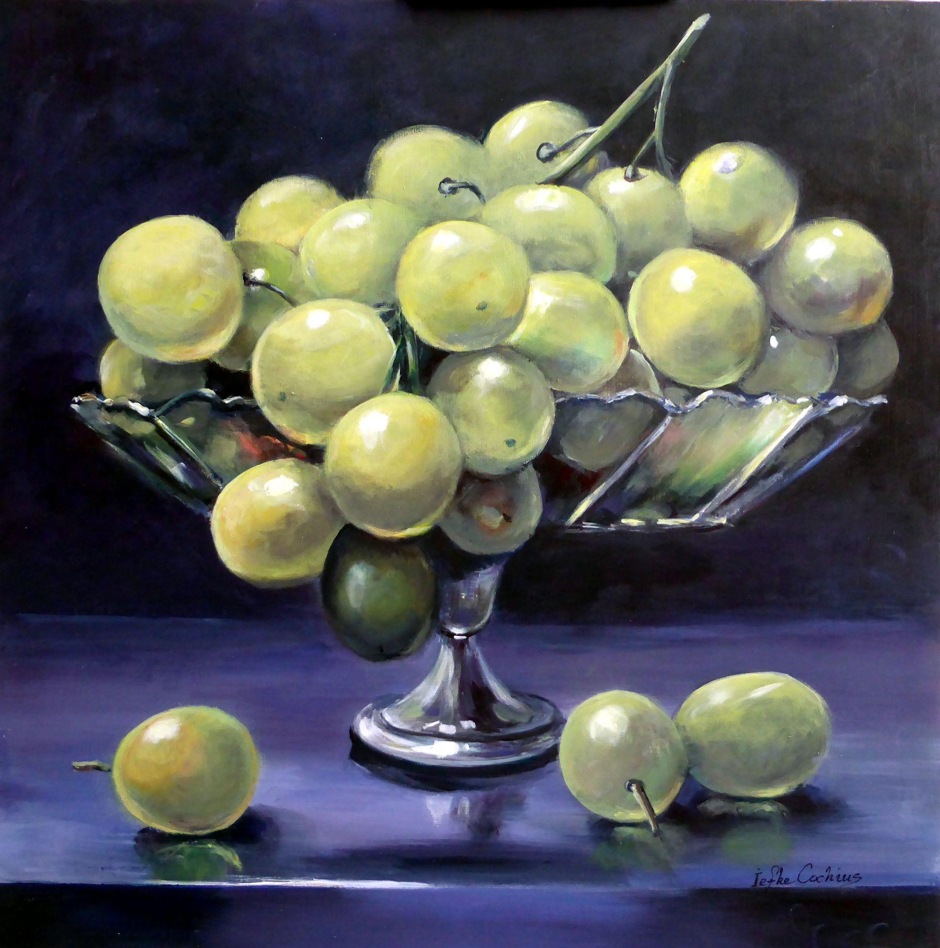 Schaaltje groene druiven